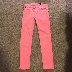 Pink AG Stevie Ankle Jeans
